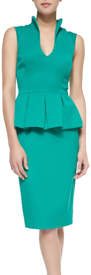 Office Sleeveless Work Peplum Candeese Dress Sheath Halo Black Green tqZ00T
