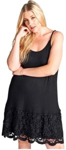 ODDI short dress Black Extender Slip Plus Size Lace Slip Extender on Tradesy