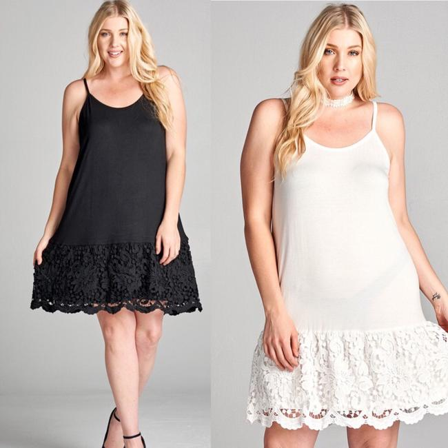 ODDI short dress Black Extender Slip Plus Size Lace Slip Extender on Tradesy Image 4