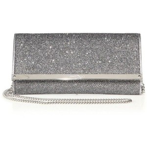Jimmy Choo Anthracite/ Silver Clutch