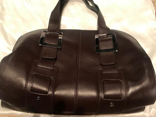 Roger Vivier Leather Buckles Tote in Brown Image 1