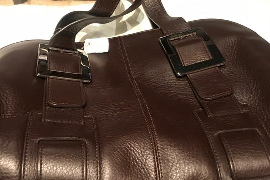 Roger Vivier Leather Buckles Tote in Brown Image 6
