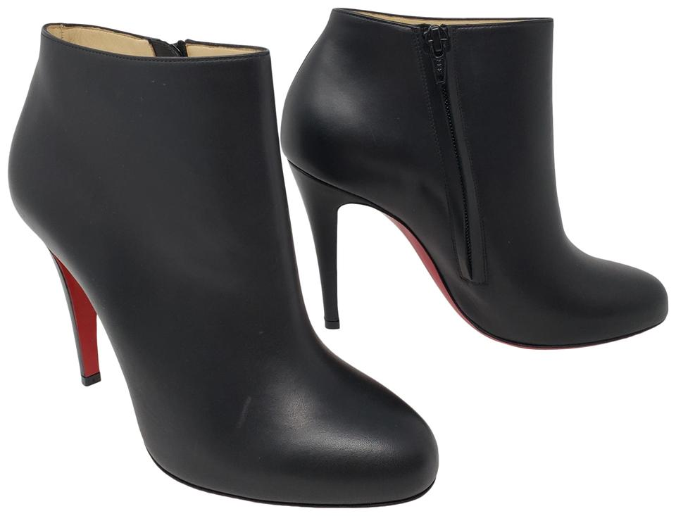 huge discount 566cb 498e9 Christian Louboutin Black Leather Belle Ankle Boots/Booties Size EU 38.5  (Approx. US 8.5) Regular (M, B) 33% off retail
