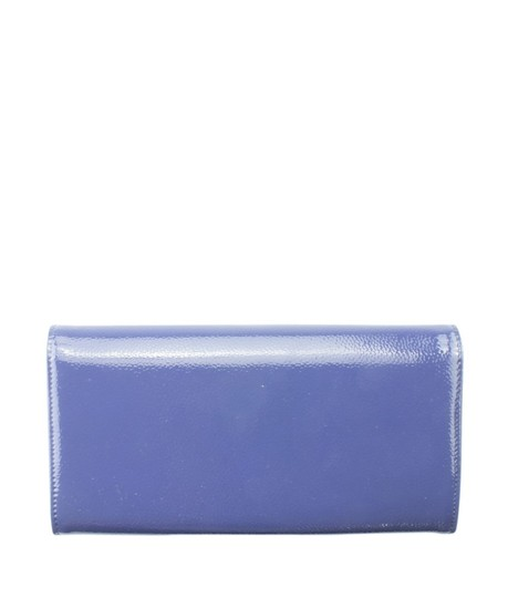 Chanel Chanel A50070 Blue Caviar Patent Leather Snap Wallet (153870) Image 1