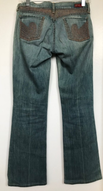 Citizens of Humanity Embroidered Copper Flare Leg Jeans-Light Wash Image 1