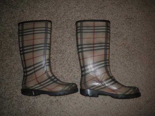 Burberry Rubber Classic Plaid Boots Image 1