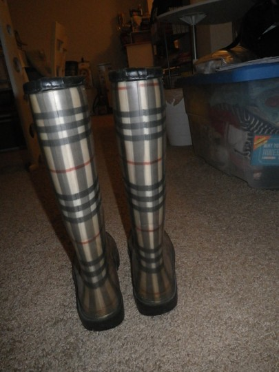Burberry Rubber Classic Plaid Boots Image 2