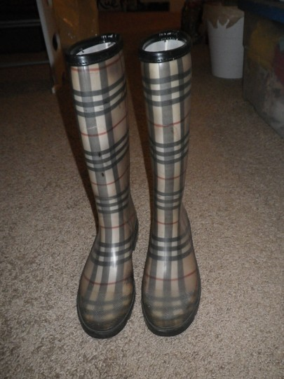 Burberry Rubber Classic Plaid Boots Image 3