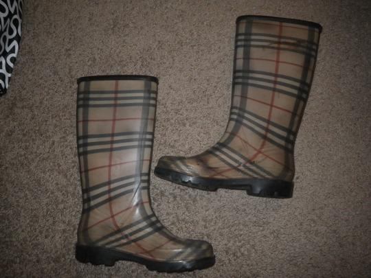 Burberry Rubber Classic Plaid Boots Image 4