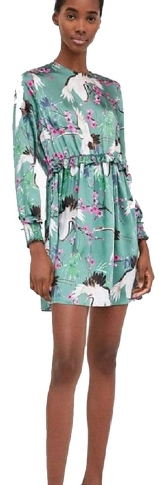 Casual Blue Heron Large Dress Sky Zara pxHIqwYn1