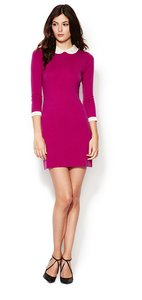 Autumn Cashmere short dress fuchsia Sweater Pink Sweater Contrast on Tradesy