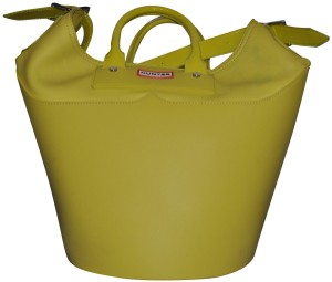 Hunter Tote in yellow chartreuse color