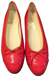 Chanel Ballet Ballerina Size 39.5 Coral Flats