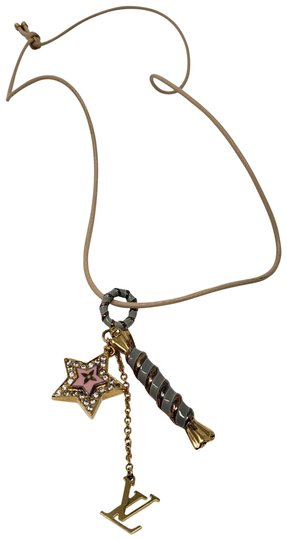 Preload https://img-static.tradesy.com/item/23873565/louis-vuitton-gold-multicolor-goldtone-metal-leather-candy-star-necklace-0-2-540-540.jpg