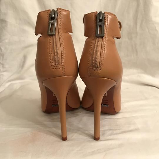 SCHUTZ Leather Sandal Pump Gladiator Caged Brown Tan Boots Image 5