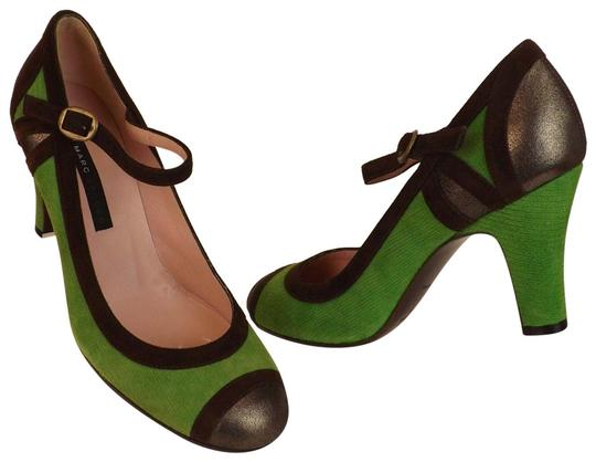 Preload https://img-static.tradesy.com/item/23873662/marc-jacobs-green-color-block-suede-buckle-rounded-toe-jane-italy-pumps-size-eu-37-approx-us-7-regul-0-1-540-540.jpg