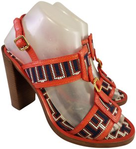 Tory Burch Beaded Rare Style red Sandals