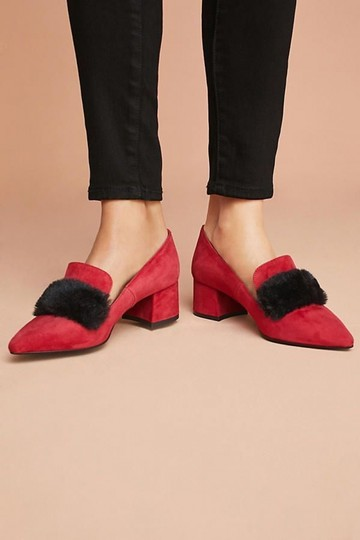 Anthropologie Minato Wedges Red Boots Image 1