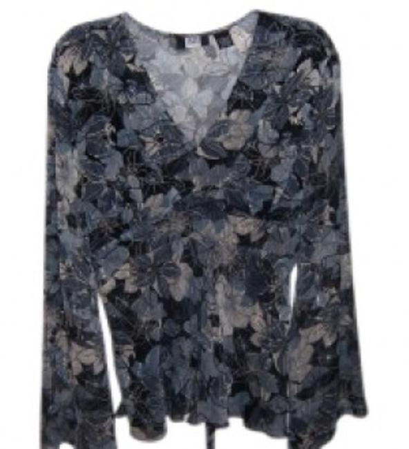 Preload https://item5.tradesy.com/images/studio-1940-silver-black-and-gray-v-neck-blouse-size-14-l-23874-0-0.jpg?width=400&height=650