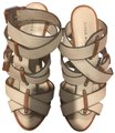 Karen Millen ivory, brown, taupe Sandals