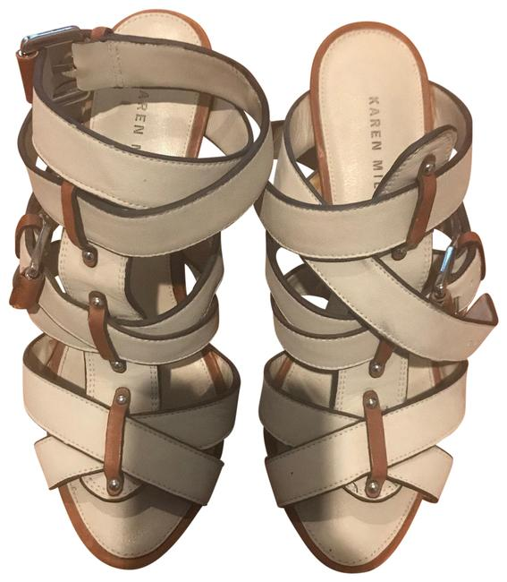 Item - Ivory Brown Taupe Cage Sandals Size US 5 Regular (M, B)