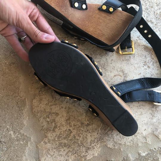 Tory Burch Black and Brown Wedges Image 4