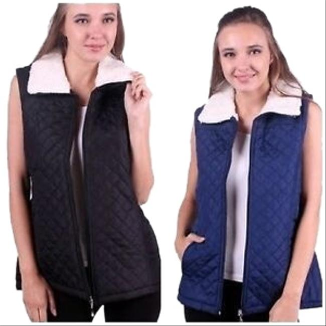 Preload https://img-static.tradesy.com/item/23874122/ambiance-black-or-navy-women-s-puffer-jacket-with-faux-fur-vest-size-8-m-0-3-650-650.jpg