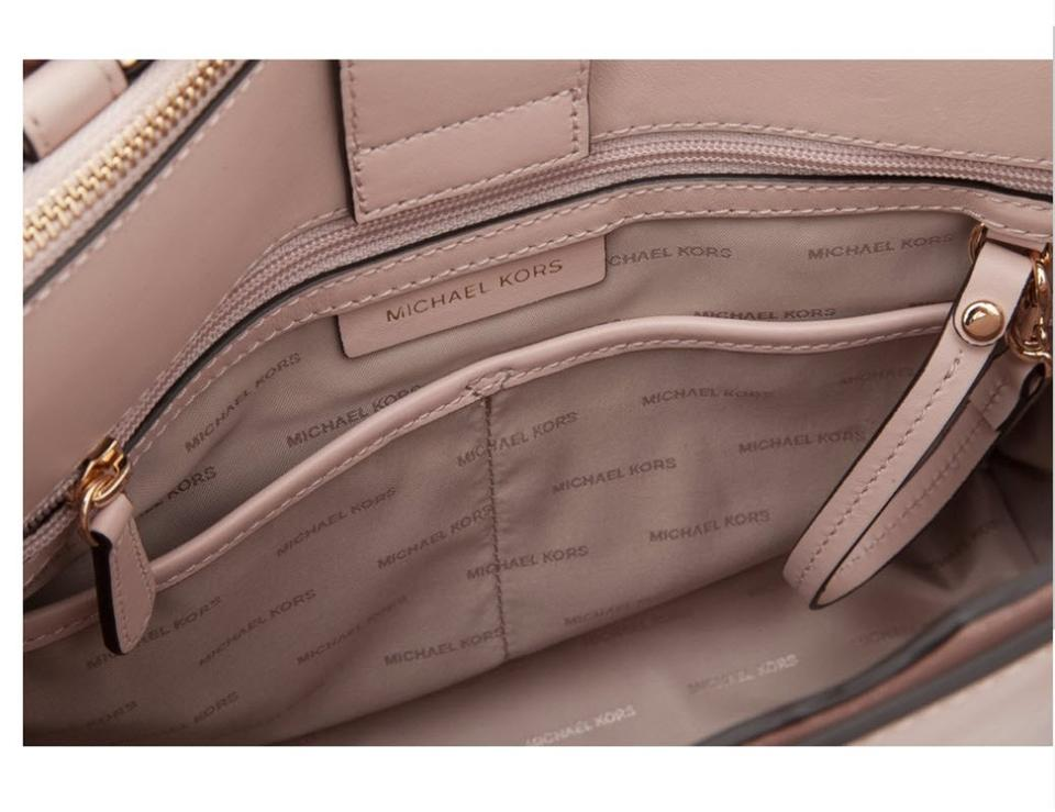 b40a09c63be86d Michael Kors Leather Satchel in Pink Image 11. 123456789101112