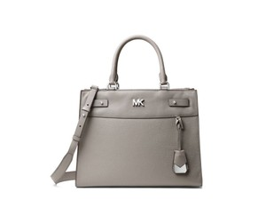 74ec7cb912e0 Added to Shopping Bag. Michael Kors Leather Soft Pink Satchel in gray