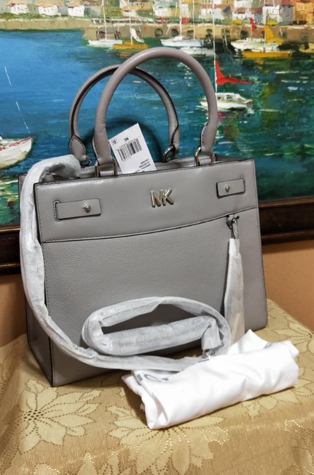 9fd954b9449e Michael Kors Leather Soft Pink Satchel in gray Image 11. 123456789101112