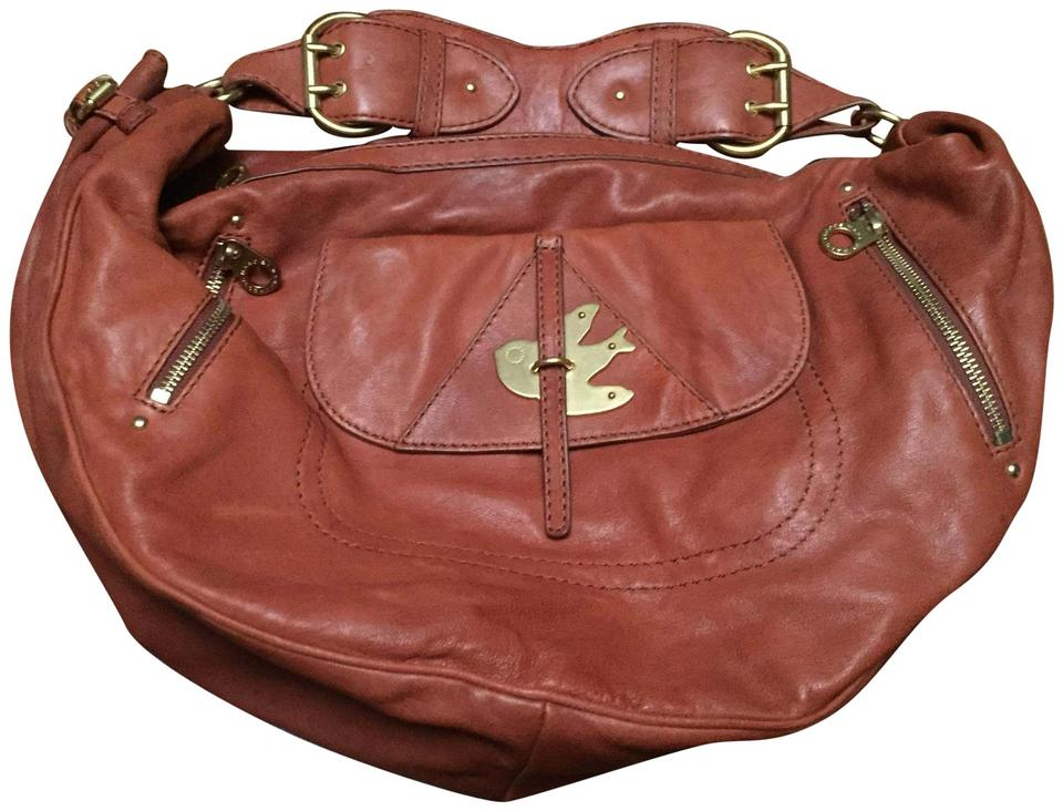 fc290ad75d Marc by Marc Jacobs Petal To The Metal Mevie Large Rust Leather Hobo ...