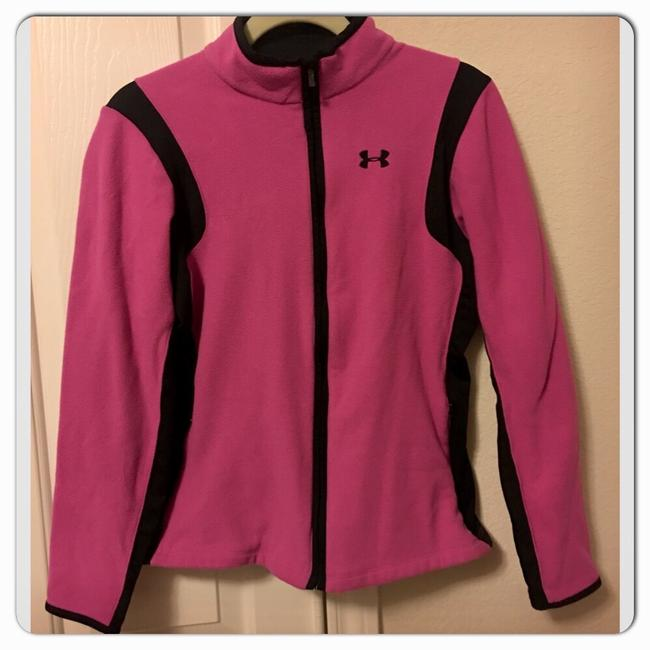 Item - Pink/Black Coldgear Fleece Activewear Outerwear Size 8 (M)