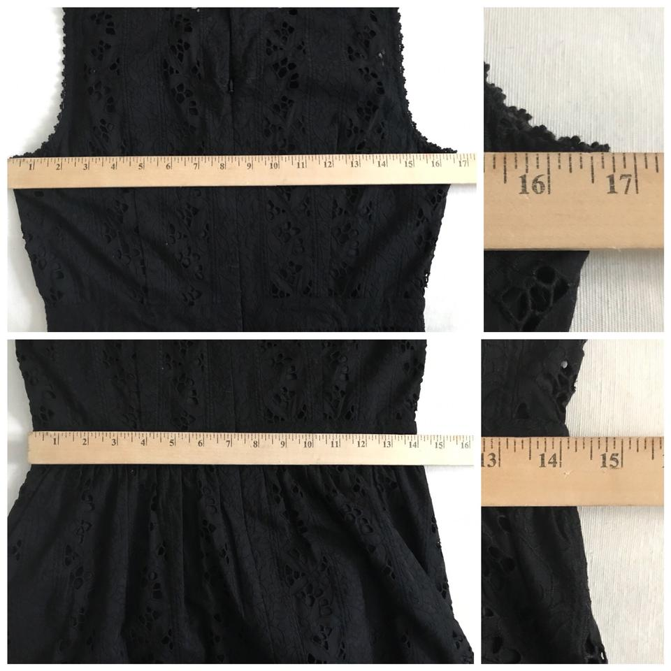 Pleated Casual Collection Black Eyelet J Short Crew Dress qWwARxCtn