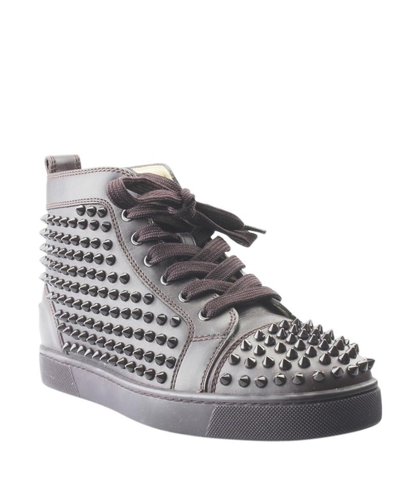 Christian Louboutin Brown Louis (154864) Spike Leather Sneakers (154864) Louis Boots/Booties 885b2c
