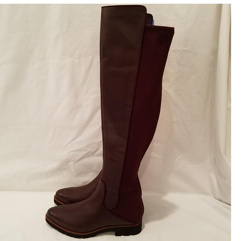 76695a5ec61 Franco Sarto Dark Burgundy Benner Over The Knee Boots Booties Size US 8.5  Regular (M