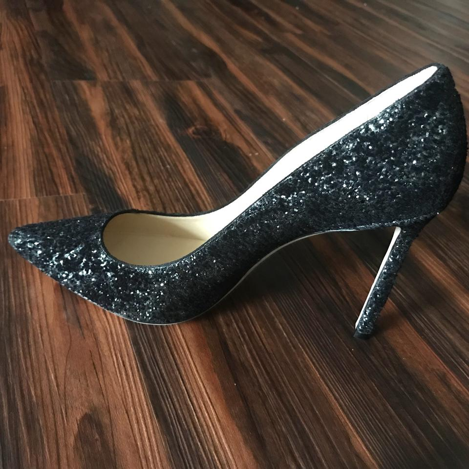 Anthracite New Black Romy Choo Pumps Jimmy 100 Glitter Cw7qFXnE