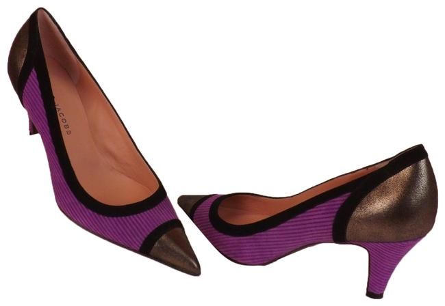 Item - Purple Multi-color Suede Pointed Toe Low Italy Pumps Size EU 38.5 (Approx. US 8.5) Regular (M, B)