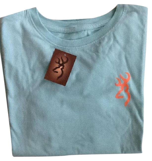 Item - Teal Budmark Ornamental Chill Tee Shirt Size 14 (L)