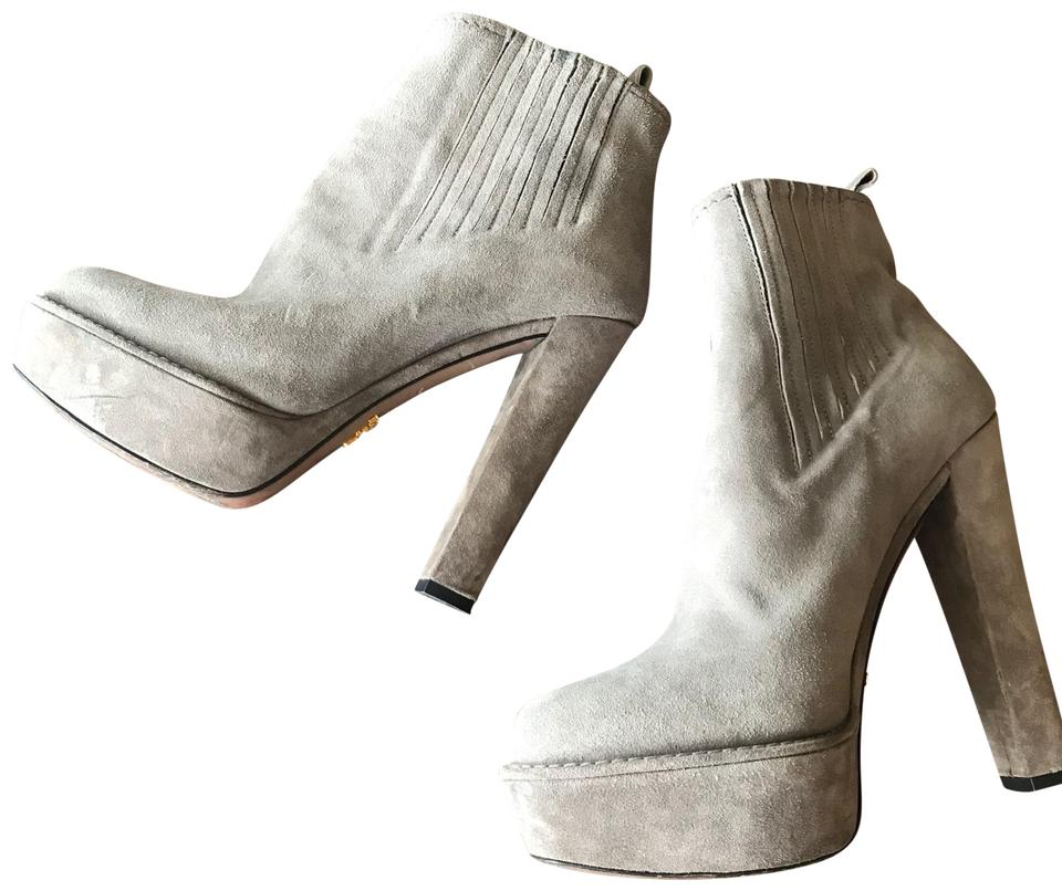 WOMEN Prada Grey/ Taupe Many Boots/Booties Many Taupe styles 18de0e