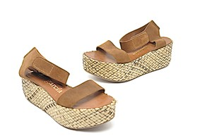 Pedro Garcia Platform Brown Sandals