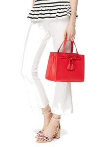 Kate Spade Pxru7598 Small Isobel Satchel/Messenger Pebbled Leather Rosso (Red) Messenger Bag