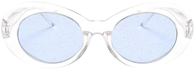Unbranded ** Clear/Blue Fashion Glitter Lens Sunglasses Unbranded ** Clear/Blue Fashion Glitter Lens Sunglasses Image 1