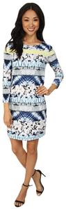 BCBGMAXAZRIA short dress Blue/White on Tradesy