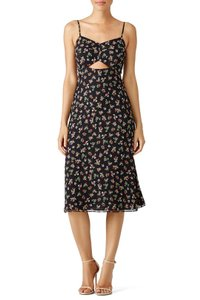 Bailey 44 short dress Black Floral Flowy Cut-out Sweetheart Print on Tradesy