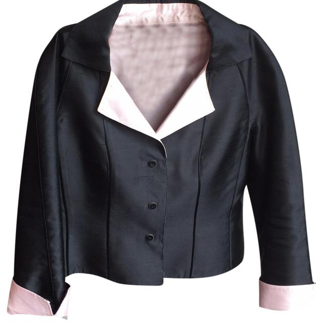 Item - Black and Baby Pink Skirt Suit Size 14 (L)