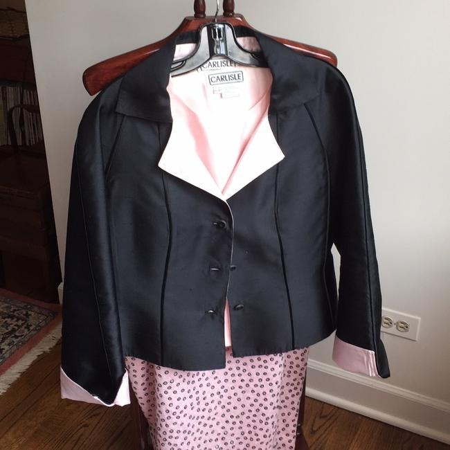 Carlisle Black and Baby Pink Skirt Suit Size 14 (L) Carlisle Black and Baby Pink Skirt Suit Size 14 (L) Image 3