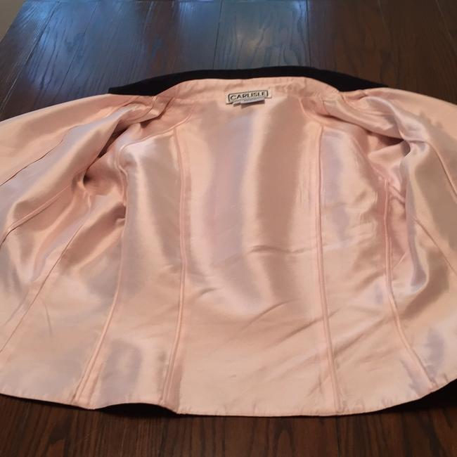 Carlisle Black and Baby Pink Skirt Suit Size 14 (L) Carlisle Black and Baby Pink Skirt Suit Size 14 (L) Image 6