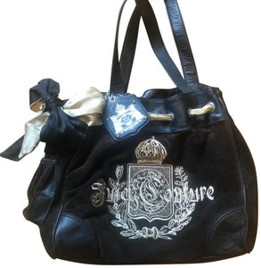 Juicy Couture Tote Bags Leather Casual Satchel In Black