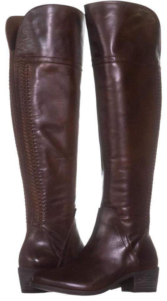 Vince Woven Camuto Brown Bendra Over-the-knee Woven Vince 094 Russet / 36 Boots/Booties 1024f5