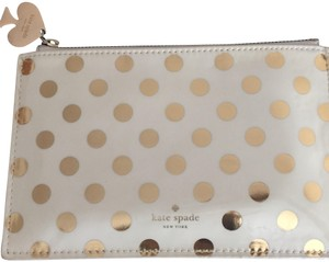 Kate Spade Wristlet in Gold Polka Dots